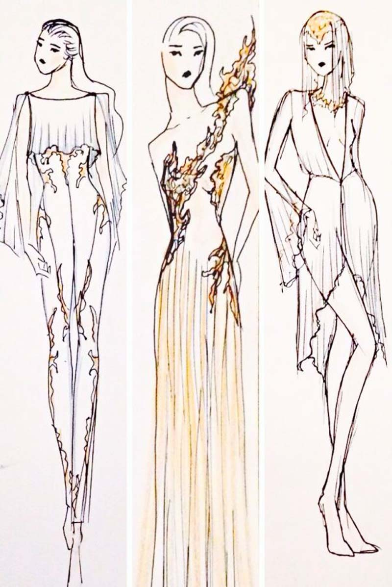 Michelle Hebert Sketches for  Ballet Preljocaj