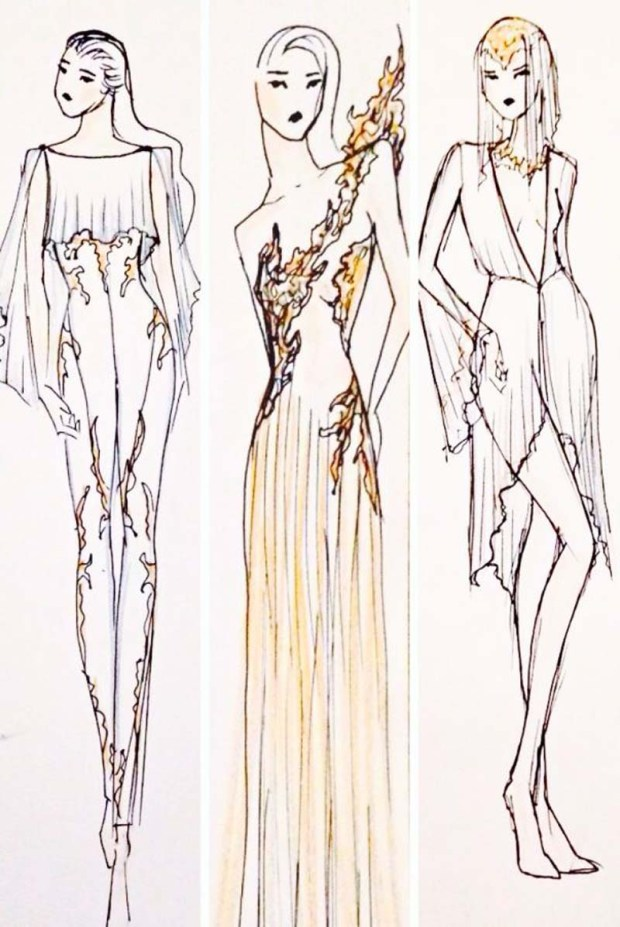 Michelle Hebert Sketches for  Ballet Preljocaj
