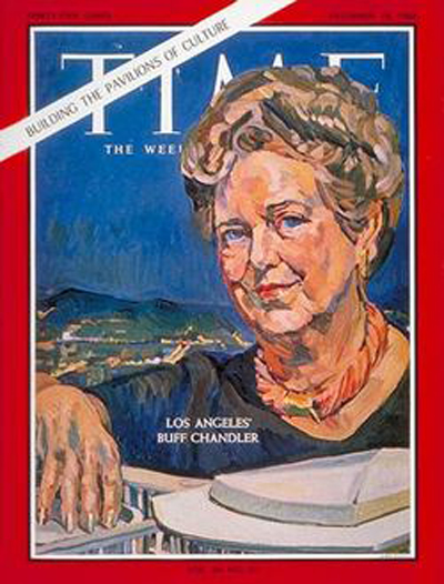 Dorothy Chandler on cover of timemagazine