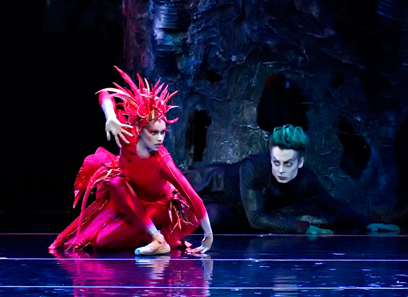 American Ballet Theatre. Misty Copeland and Roman Zhurbin in Firebird. Photo by Gene Schiavone.