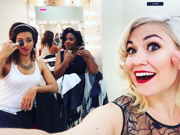 AOF ladies backstage